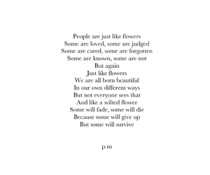 poem, life, and flowers image