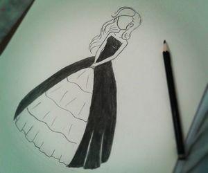 dark, princess, and draw image