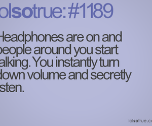 funny, headphones, and listen image