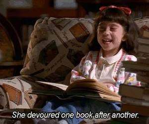 book, matilda, and movie image