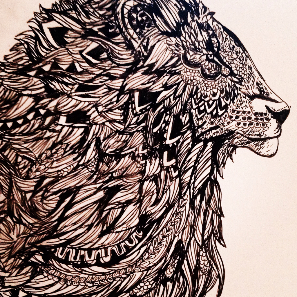 Mandala lion shared by Ana Lucia on We Heart It