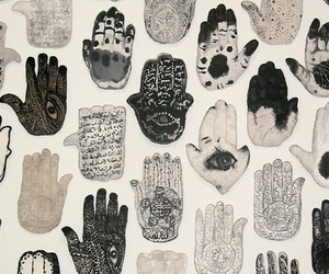 hands, art, and hamsa image