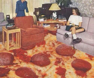 pizza, grunge, and vintage image
