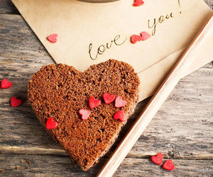 love, heart, and cake image