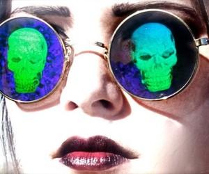 skull, fashion, and girl image