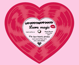 heart, record, and pink image
