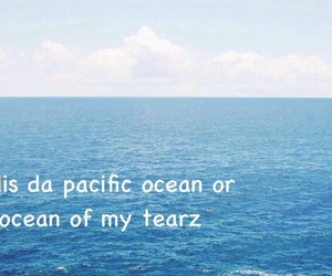 ocean, tears, and quote image