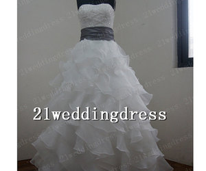 wedding dress, ball gown wedding dress, and wedding gown image