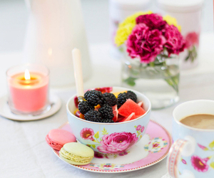 fruit, coffee, and tea image