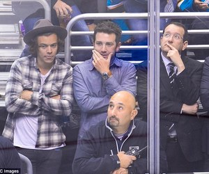 Harry Styles, nhl game, and one direction image