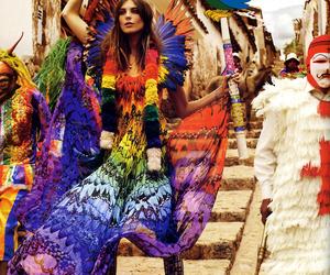 fashion, rainbow, and model image