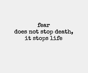 quotes, fear, and life image