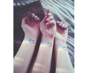 tattoo, friends, and heart image