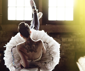 tattoo, ballerina, and ballet image