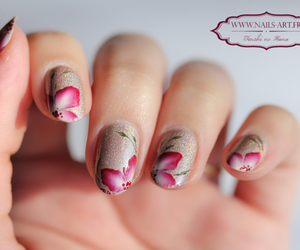 flowers, perfect, and nail art image