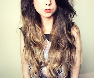 hair, zoella, and ombre image