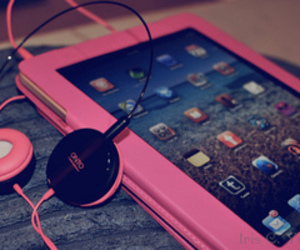 pink and ipad image