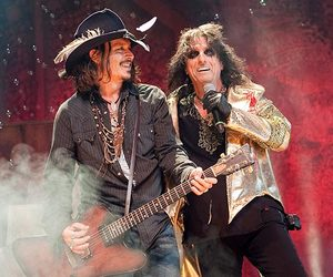 johnny depp and alice cooper image
