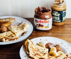 nutella, food, and crepes image