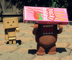 pocky, domo, and danbo image