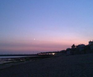 beach, france, and pink image