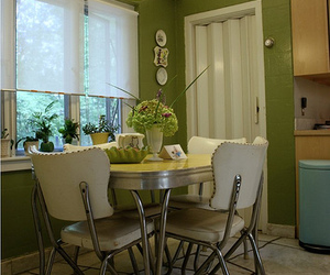 60's, green, and kitchen image