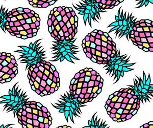 background, pineapples, and colorfull image