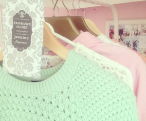 sweater, pastel, and pink image