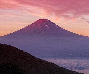 colorful, nature, and volcano image