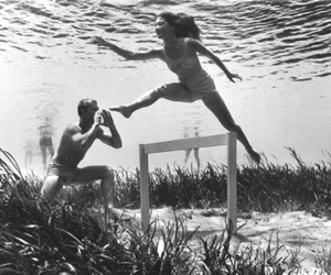 underwater, black and white, and photography image