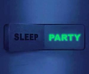 party, sleep, and night image