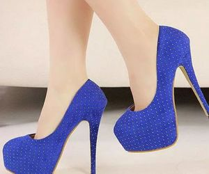 blue, heels, and sexy heels image
