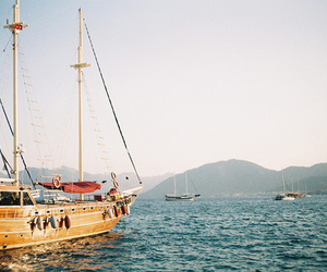 boat, sea, and blue image