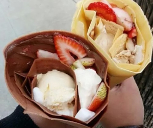 food, chocolate, and strawberry image