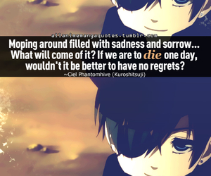 anime, quote, and black butler image