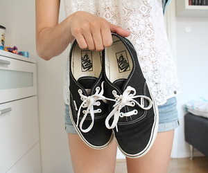 vans, shoes, and black image