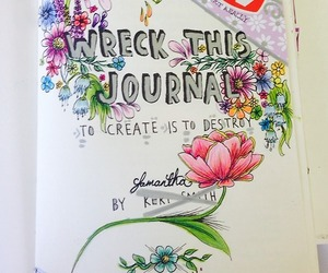keri smith, top, and wreck this journal image