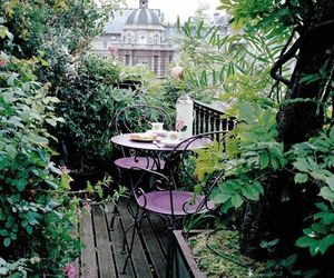 garden, green, and balcony image
