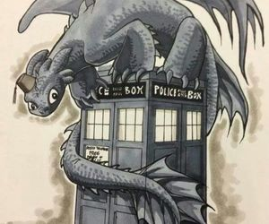 toothless, doctor who, and tardis image