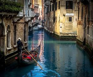 venice, italy, and gondola image