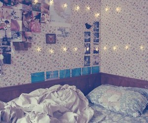 bed, Dream, and flowers image