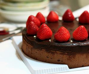 strawberry, cake, and chocolate image