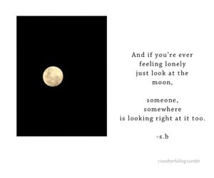 moon, quote, and sad image