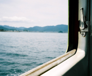 water, sea, and window image