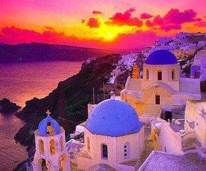Greece, sunset, and amazing image