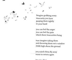 quotes, insecurities, and bird image
