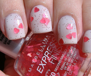 nails, hearts, and heart image