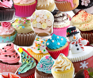 colorful, cupcakes, and OMG image