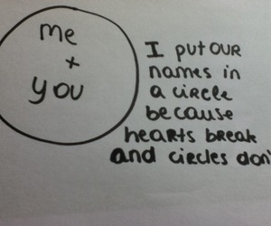 love, circle, and quote image