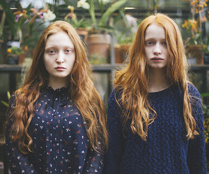 girl, sisters, and twin image